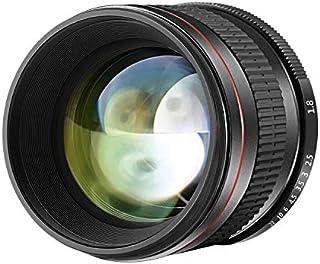 Neewer 85mm f/1.8 Manual Focus Aspherical Medium Telephoto Lens for APS-C DSLR Canon EOS 80D, 70D, 60D, 60Da, 50D, 7D, 6D, 5D, 5DS, 1Ds, Rebel T6s, T6i, T6, T5i, T5, T4i, T3i, T3, T2i and SL1 Digital