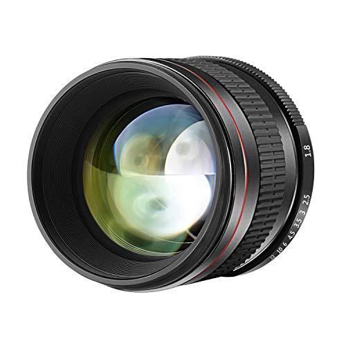 Neewer 85mm f/1.8 Lente de Enfoque Manual Fijo Cristal HD Retrato Telefoto Asférica para Cámaras Réflex Digitales de Canon EOS 80D 70D 60D 60Da 50D 7D 6D 5D 5DS 1Ds Rebel