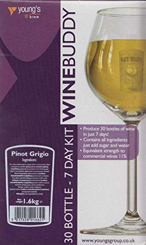 WineBuddy Pinot Grigio 30 Bottle - Home brew Wine Making Kit