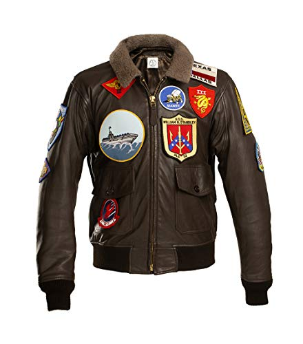 G1 US Navy Leather Flight Jacket Top Gun Maverick Cazadora DE PILOTO Chaqueta Aviador Cuero