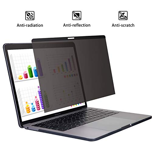 YBP Magnetic MacBook-Pro 13 Inch Privacy-Screen - Magnetic Installation HD Privacy for MacBook Pro 13(2016~2020/A2251,A2289) MacBook Air 13.3 2018(A1989) 2020(A2179)