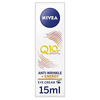 NIVEA Q10 plus C Anti-Wrinkle + Energy Eye Cream, Anti-Ageing Eye Cream with Vitamin C and Q10 Anti-Oxidants, Daily Use Anti Wrinkle Cream, 15 ml