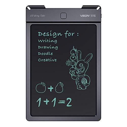 Preisvergleich Produktbild papierlos VSON Le schreiben 5-Zoll-Kinder Zeichenbrett elektronische LCD-LCD-Handschrift Board Schreibpapier Schreibbrett-5 Zoll / schwarz / 9305
