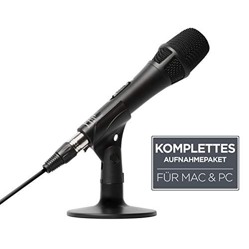 Marantz Professional M4U - USB-Kondensatormikrofon mit Audio-Interface, Mikrofonkabel und Tischständer – Für Podcast-Projekte, Streaming und die Aufnahme von Instrumenten