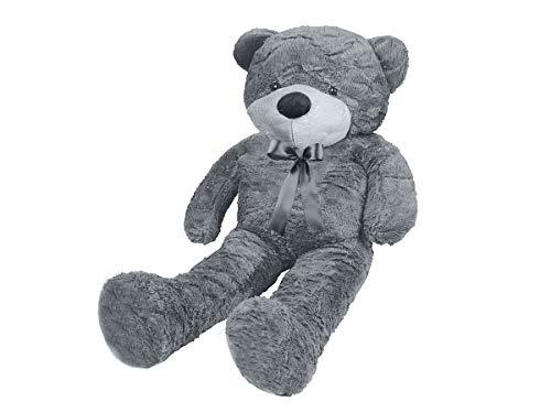 MALATEC Riesen Teddybär XXL100-190cm samtig weiches Kuscheltier Plüschbär Plüschtier Grau 9281, Größe:130 cm
