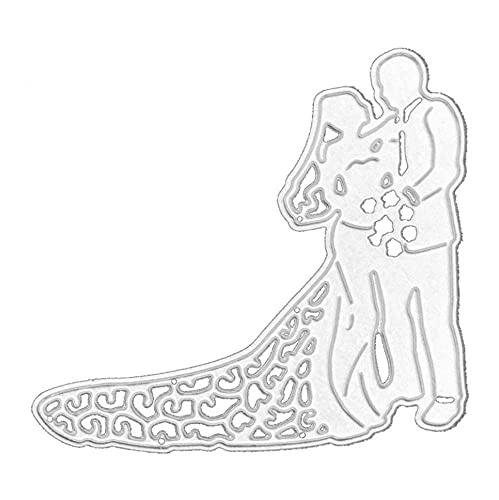 Hinleise Troqueles de corte vestido de boda Metal Embossing Stencil Plantilla de...