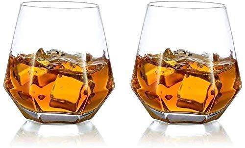 Juego de Jarras y Vasos de Whisky Conjunto De 2 Gafas De Whisky Inquebrantable Gafas De Agua Potable Premium 300ml Perfectamente Ponderado De Cristal Transparente Transparente Para Bebidas Cortas Safe
