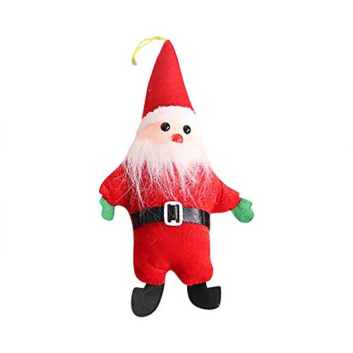 Fineday Christmas Ornaments Gift Santa Claus Snowman Tree Toy Doll Hang Decorations, Home Decor, for Christmas Day (A)