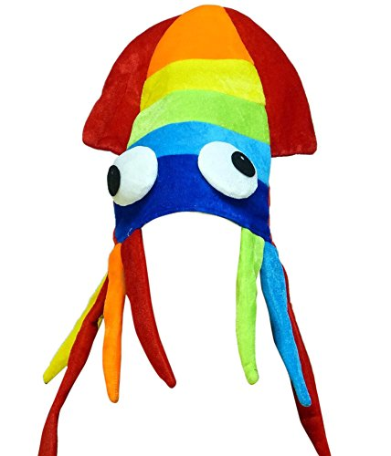 Squid Hat - Squid Costume - Party Hats for Adults - Sea Animal Hats - Costume Hats by Funny Party Hats