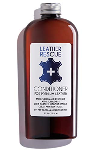 Leather Rescue Conditioner and Restorer for Jackets, Shoes, Bags, Purses, Car Seats, and Furniture - Non-Toxic and Made in USA - 8.5 oz