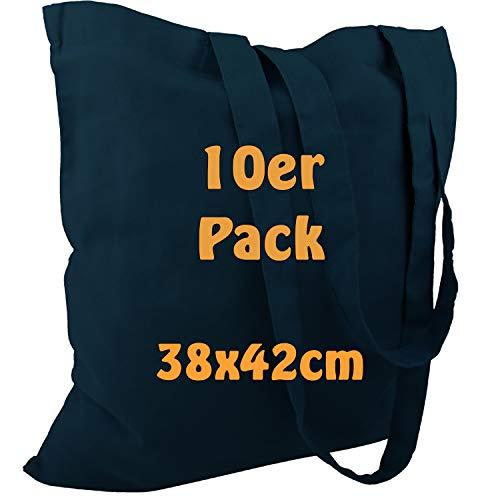 Cottonbagjoe katoenen tas jute zak onbedrukt met twee lange hengsels 38x42cm