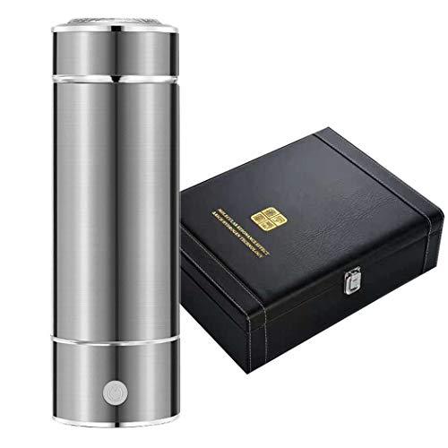 Hombosi Wiederaufladbare USB wasserstoffreichem Wasser Cup SPE/PEM Technologie ionisiertes Wasser Generator Anti Antioxidant Tragbarer molekularer Wasserstoff Cup350ml Alterungs,Chrome