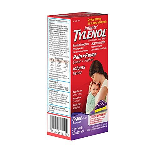 Tylenol Infants' Acetaminophen Liquid Medicine, Grape, 2 Fl Oz