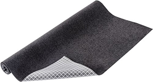 WENKO Anti-Rutsch Schutzmatte Filz - Schubladeneinlage, zuschneidbar, Polyester, 54 x 72 cm, Anthrazit