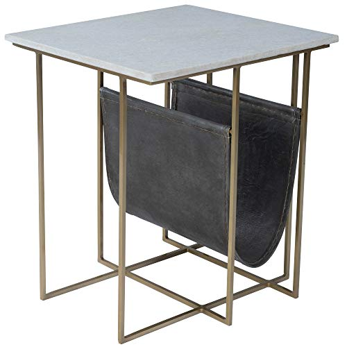 Price comparison product image Butler Stephanik Marble and Leather Magazine Table