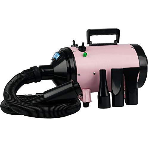 ScottDecor Pet Hair Dryer Gato-Mascota de Alta Potencia secador de Pelo Aseo secador de Pelo pequeño Perro con un Calentamiento rápido 2200W (Color : Pink)