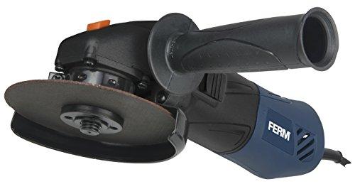 FERM Haakse slijpmachine 500W - 115mm - Met elektronische soft start en verstelbare zijhandgreep - Soft Grip