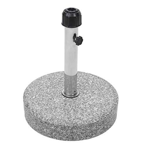 Mendler Sonnenschirmständer HWC-F92, Schirmständer Schirmhalter, Granit ~ 24kg rund grau