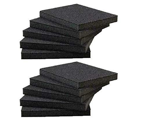 Almohadillas de esponja para fregar de uso pesado para uso pesado Herramienta de cocina de limpieza extrafina, almohadillas de esponja para lijar, toallita mágica de esponja de esmeril (10PCS)