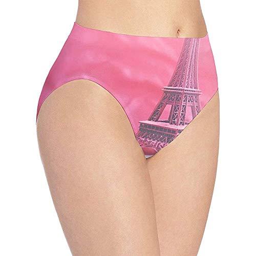 Web--ster 3D Print Soft Ropa Interior Femenina Rosa Torre Eiffel Moda Flirty Lady