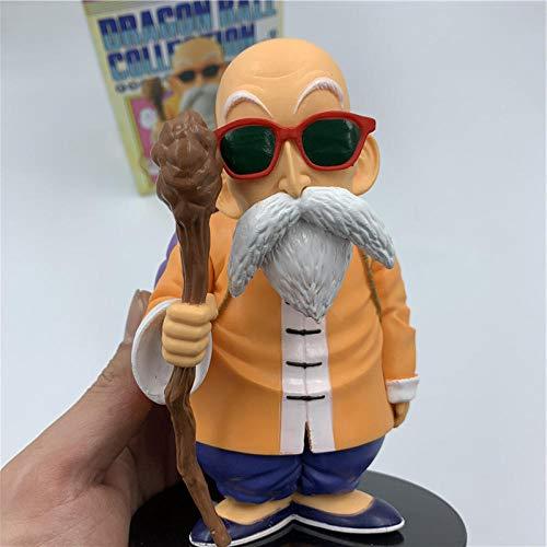 RGERG Action-Figuren Statuen Dragon Z meester Roshi Kame Sennin zonnebril Standing Ver. PVC Action Figure DBZ Goku lerarencollectie vol. ca. 14 cm hoog.