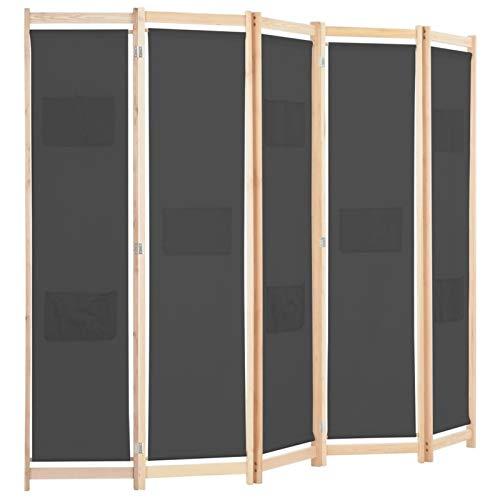 Bassette 5-Panel de la Pantalla de Panel Plegable Tabique móvil Dormitorio Oficina Tela