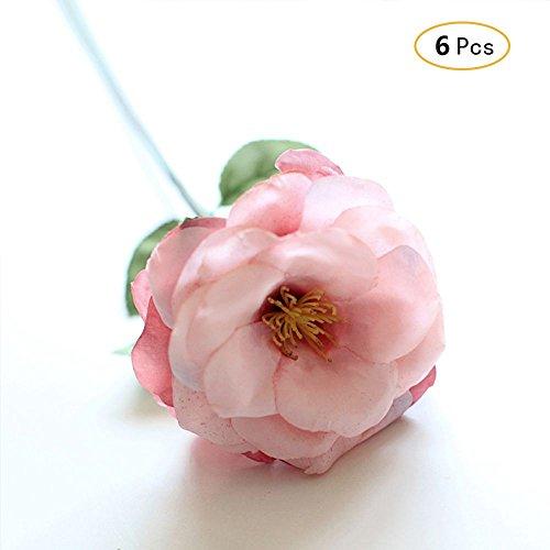 Jia HU 6europäischen Künstliche Rosa Knöterich Blumen Arrangements Haus Pflanzen Büro Deko