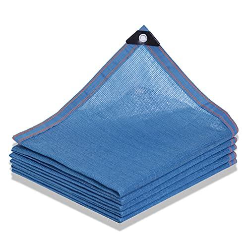 Toldo Vela De Sombra Azul, Protección Solar Hoja De Lona, Red De Sombreado Gruesa Encriptada, Red De Aislamiento Térmico Para Jardín De Infantes De Piscina De Patio De Coche Familiar, 2 * 2m, 3 * 4m
