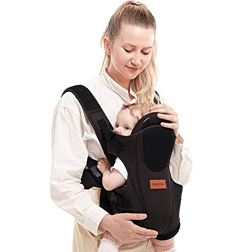 Baby Carrier, SpringBuds 4-in-1 Ergonomic Backpack Baby Wrap Carrier Front and Back for Newborns to Toddlers with Head Support