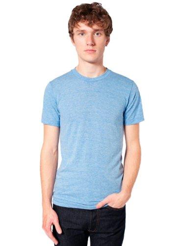 American Apparel  Unisex Tri-Blend Short Sleeve Track Shirt, Athletic Blue, Large