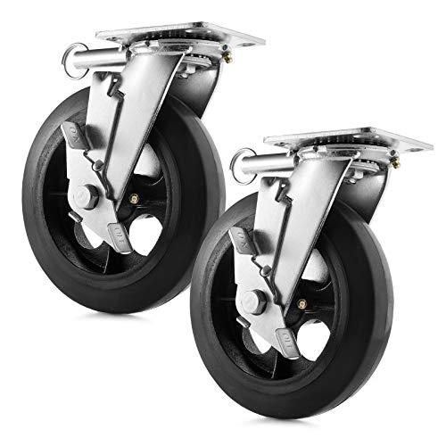 GypTool Heavy Duty Swivel Caster Wheel Set of 2 Wheels 8