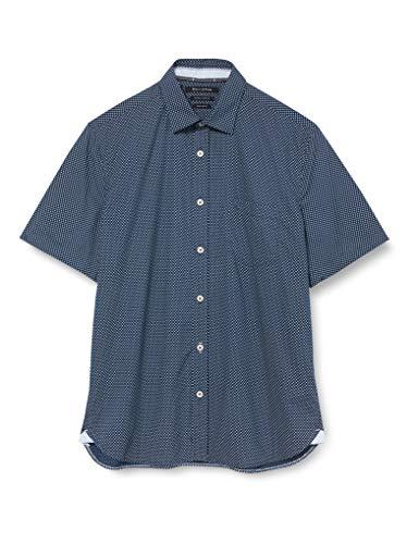 Marc O'Polo Herren 024720141106 Freizeithemd, Mehrfarbig (Multi/Mood Indigo Q83), Medium (Herstellergröße: M)