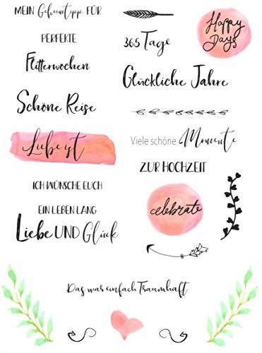Hochzeits Sticker (Watercolors & Handlettering Design) | 133 Stück - 4