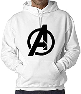 WearIndia Super Hero Avenger Printed Unisex Pullover Cotton Hoodies Sweatshirt for Men and Women/Printed Hoodie/Graphic Printed Hoodie/Hoodie for Men & Women/Warm Hoodie/Unisex Hoodie