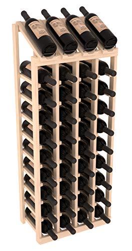 Wine Racks America Pine 4 Column 10 Row Display Top Kit Unstained