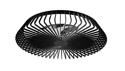 Mantra Iluminación. Modelo HIMALAYA. Ventilador y plafón de techo de 63 cm de diámetro en color negro. Fuente de luz LED 70W 2700K-5000K 4900lm. Ventilador 35W