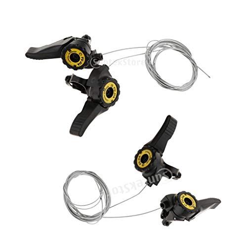 chiwanji 2 Piezas 3x5 / 6/7 MTB Thumb Shifter 15S / 18S / 21S Cable de Desviador Delantero Sólido