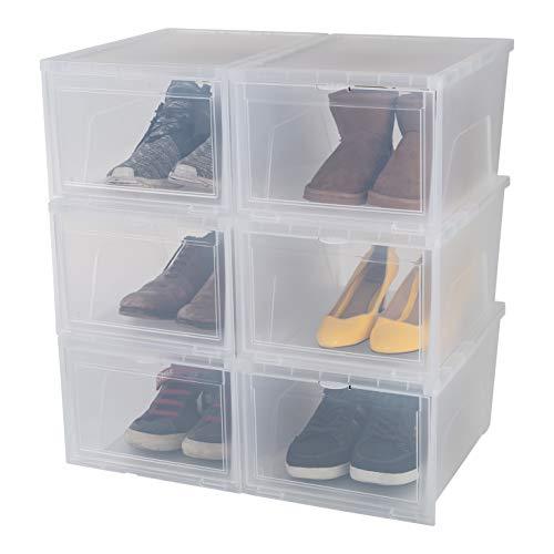Iris Ohyama cajas de almacenamiento para los zapatos