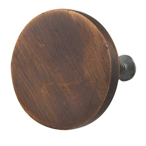 Indianshelf - Juego de 14 tiradores redondos para puerta (hierro sin óxido, 14 unidades), color marrón