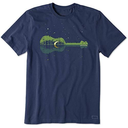 Life is Good Men's Crushe Graphic T-Shirt, Natural Rhythm, Darkest Blue, Large