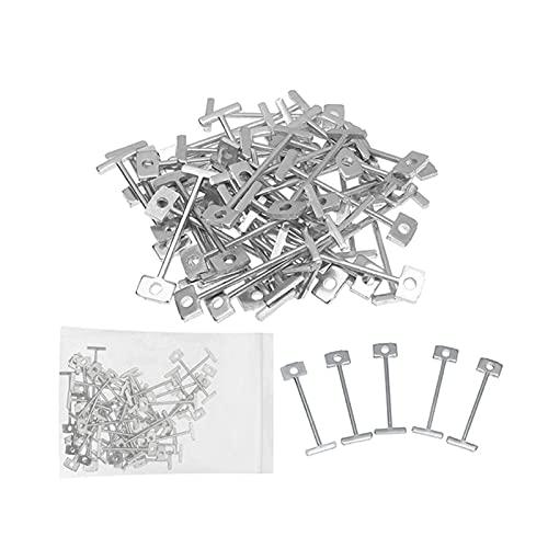 Alupre Agujas de acero niquelado, 100 piezas de repuesto de agujas de acero niquelado, localizador de nivelación de baldosas, cuñas de nivel, espaciadores de baldosas(0.9mm)