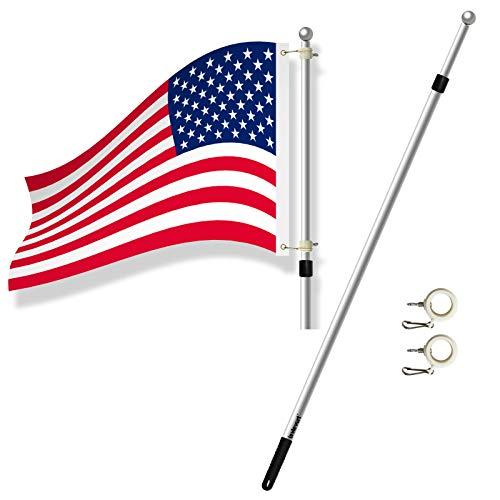 Lavievert Telescopic Anti-Winding Residential Flag Pole