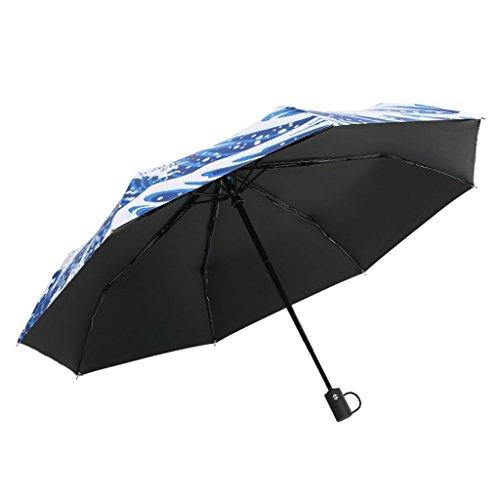 Unbekannt &Regenschirm Falten Automatischer Regenschirm-Falten-Sonnenschutz-Regenschirm Japan-kreativer UVschutz-Sonnenregenschirm (Farbe : A)