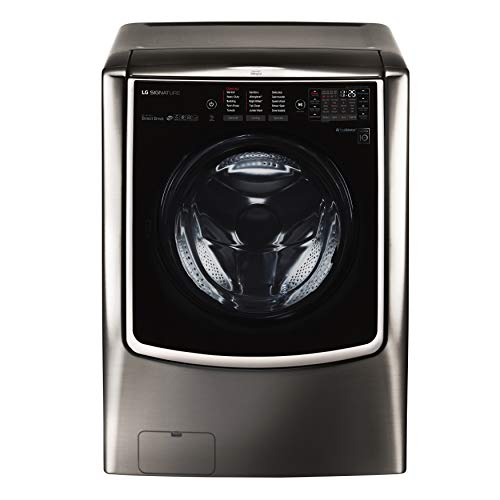 LG WM9500HKA SIGNATURE 5.8 cu. ft. Mega Capacity Washer in Black Stainless Steel