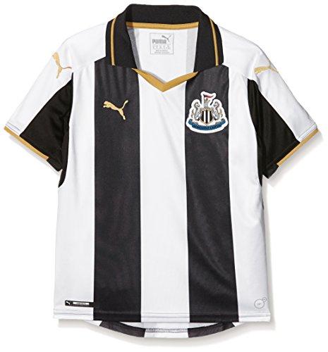 PUMA Kid 's Newcastle Home 16–17Replica Fußball Shirt schwarz Black/White/Gold 11-12 Jahre