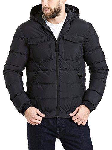 Bench Herren Schoolboy Jacket Jacke, Schwarz (Black Beauty Bk11179), Medium