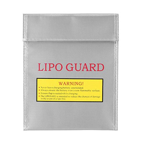 RC LiPo Li Po Batería Guardia de Seguridad incombustible Bolsa Segura Bolsa de Carga Batería Bolsa Protectora de Seguridad Caja Fuerte de Plata