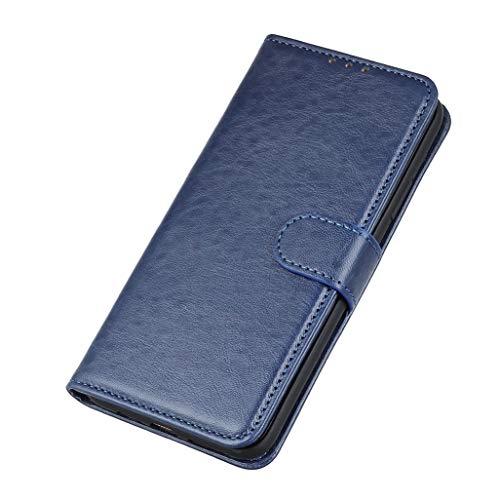 HAOYE Hülle für LG K41S / LG K51S, Premium Leder Flip Schutzhülle Magnetic Snap mit [Kartenfächer] [Ständer Funktion] Brieftasche Handyhülle, LG K41S / LG K51S Stoßfest Hülle, Blau