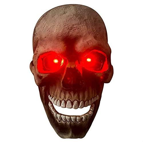 Glowing Halloween Skull Headgear Demon Mask Movable Jaw Nuevo, Halloween Glowing Skull Mask, Creepy Halloween Human Skull Mask, Full Head Skull Helmet Accesorios de Cosplay