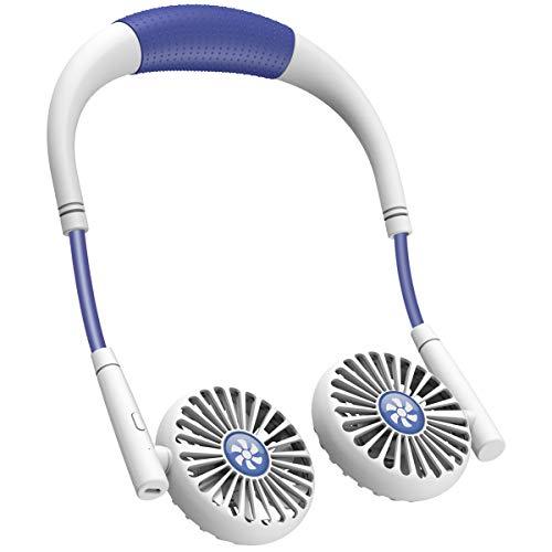 XIMU Mini Ventilador, Mini Ventilador USB, Ventilador Portátil, Ventilador Recargable con Soporte para el Cuello, 3 Velocidades y Rotación De 360 °, Adecuado para Interiores, Exteriores y Viajes
